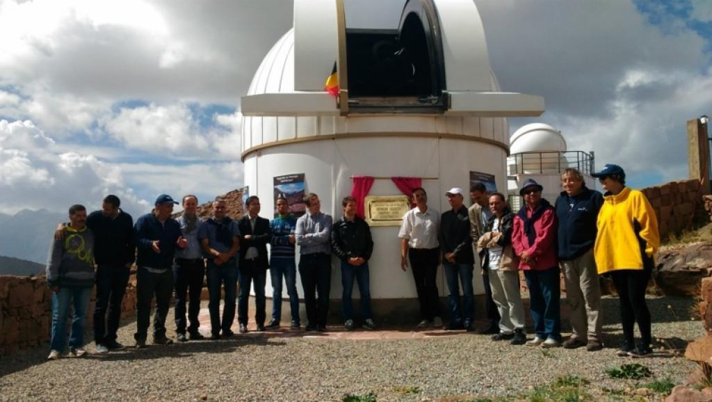 Inauguraçao do telescópio Trappist 1, em outubro de 2016, no Observatório de La Silla, no Chile