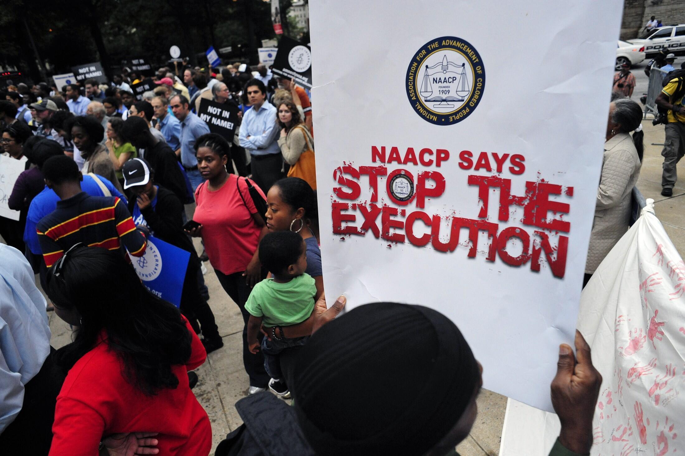 Biểu tình phản đối tử hình Troy Davis tại Atlanta, ngày 20/09/2011