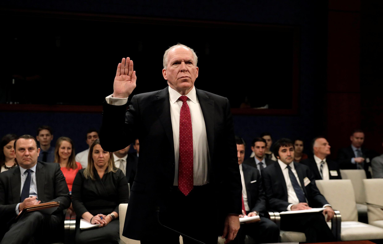 Cựu giám đốc CIA John Brennan. Ảnh chụp tại một phiên điều trần ở Quốc Hội Mỹ, 23/05/2017.