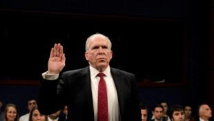 L'ancien patron de la CIA, John Brennan, lors de son audition au Capitole, le mardi 23 mai 2017.