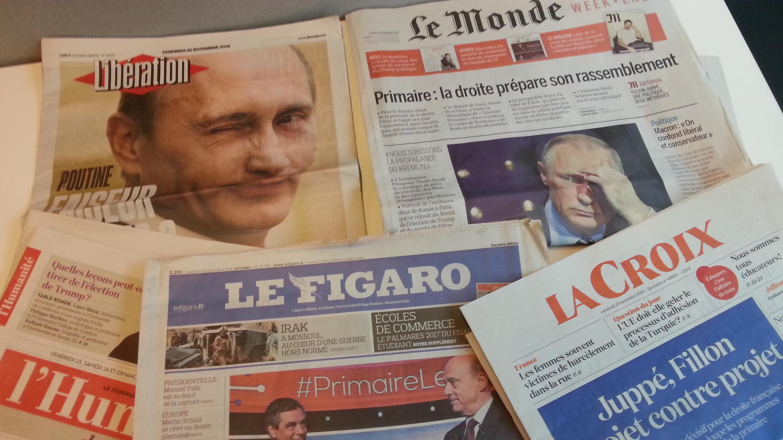 Primeiras páginas dos jornais franceses de 25 de novembro de 2016