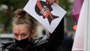 Les manifestations contre les restrictions du droit d'avortement prennent de l'ampleur en Pologne, le 28 octobre 2020.