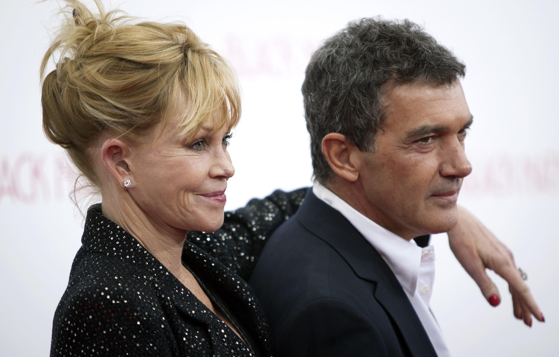 Melanie Griffith e Antonio Banderas em foto de 18/11/2013.