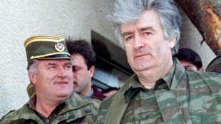 La UE pide a Serbia que colabore en la entrega de Ratko Mladic, a la izquierda de la fotografía.