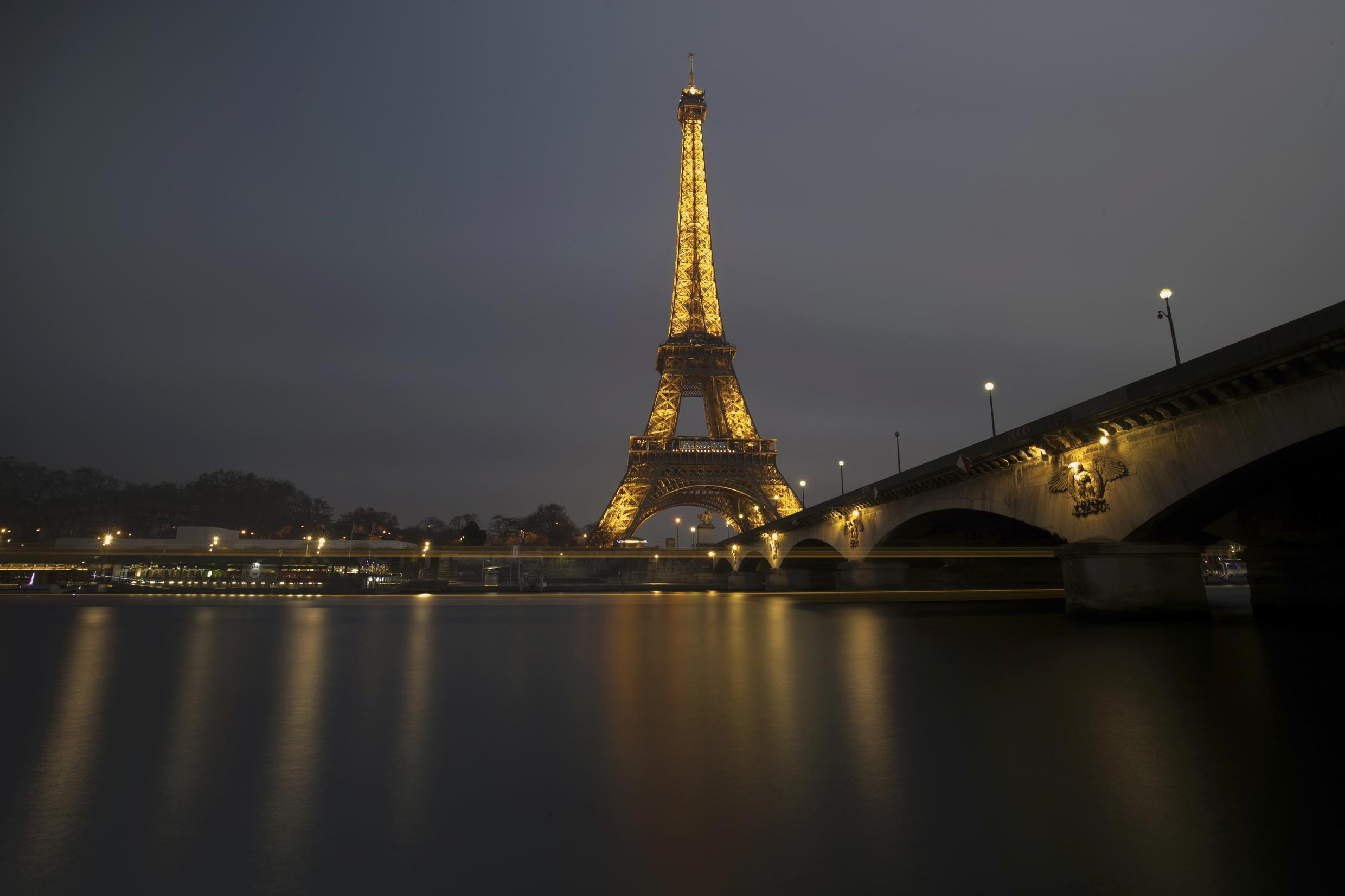 Eiffel Tower and the Seine River in Paris