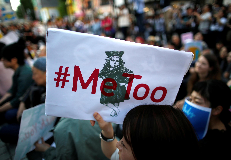 Phụ nữ Nhật biểu tình chống sách nhiễu tình dục ở Tokyo, 28/04/2018.