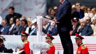Президент Грузии Георгий Маргвелашвили на параде, посвященном Дню независимости, Тбилиси, 26 мая 2017.