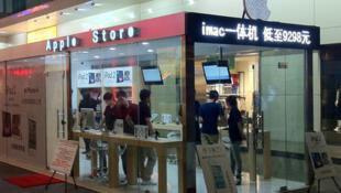 A China bateu o recorde de pirataria com 22 lojas falsas da Apple.