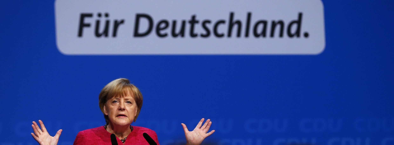 Angela Merkel defendeu os resultados positivos de seu governo nesse sábado durante o último comício antes das eleições legislativas de domingo.