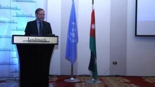 O diretor de operações da agência da ONU para os palestinos, UNRWA, na Jordânia, Roger Davies