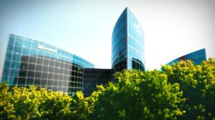 Sede da Microsoft em Issy-les-Moulineaux, no oeste de Paris.