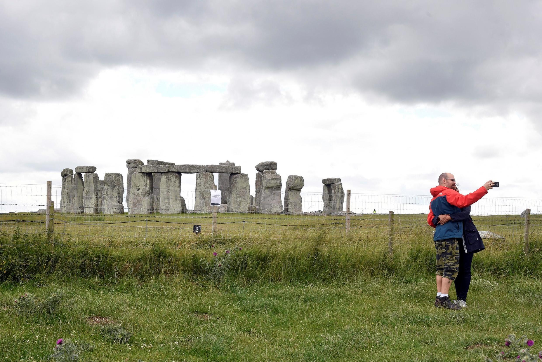Le célèbre site archéologique de Stonehenge dans le sud de l'Angleterre.