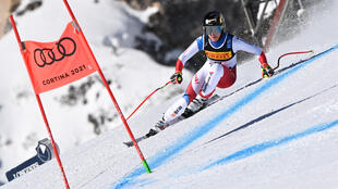 Swiss Lara Gut won gold in the Women's Super G at the Alpine World Ski Championships in Cortina d'Ampezzo