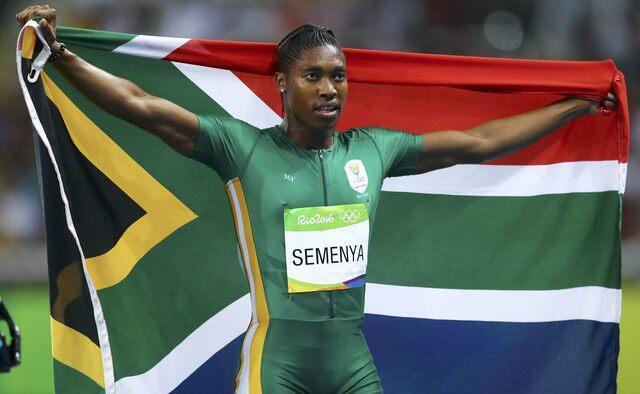 Caster Semenya a remporté la médaille d'or sur le 800 mètres féminin, aux Jeux olympiques de Rio de Janeiro, le 20 août 2016.