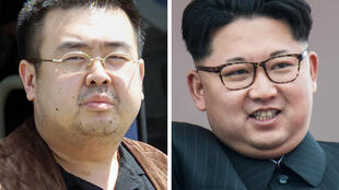 Kim Jong-Nam (kushoto), mtoto wa kiongozi wa mwisho wa Korea Kaskazini Kim Jong-Il, na ndugu yake wa kambo, ambaye ni kiongozi wa sasa wa Korea Kaskazini Kim Jong-Un (kulia).