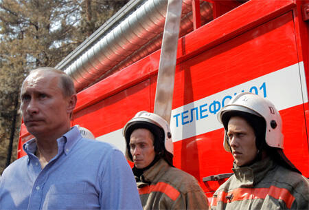 Russian Prime Minister Vladimir Putin has been forced to respond to public criticism of the government's handling of the fire outbreak.