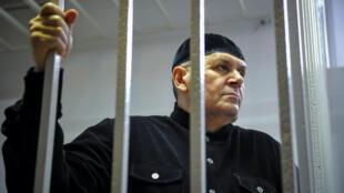 Оюб Титиев во время суда.