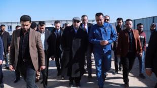 Le Premier ministre irakien Adel Abdel Mahdi arrive à Bassora pour l'inspection des travaux publics, ce 20 janvier 2019.