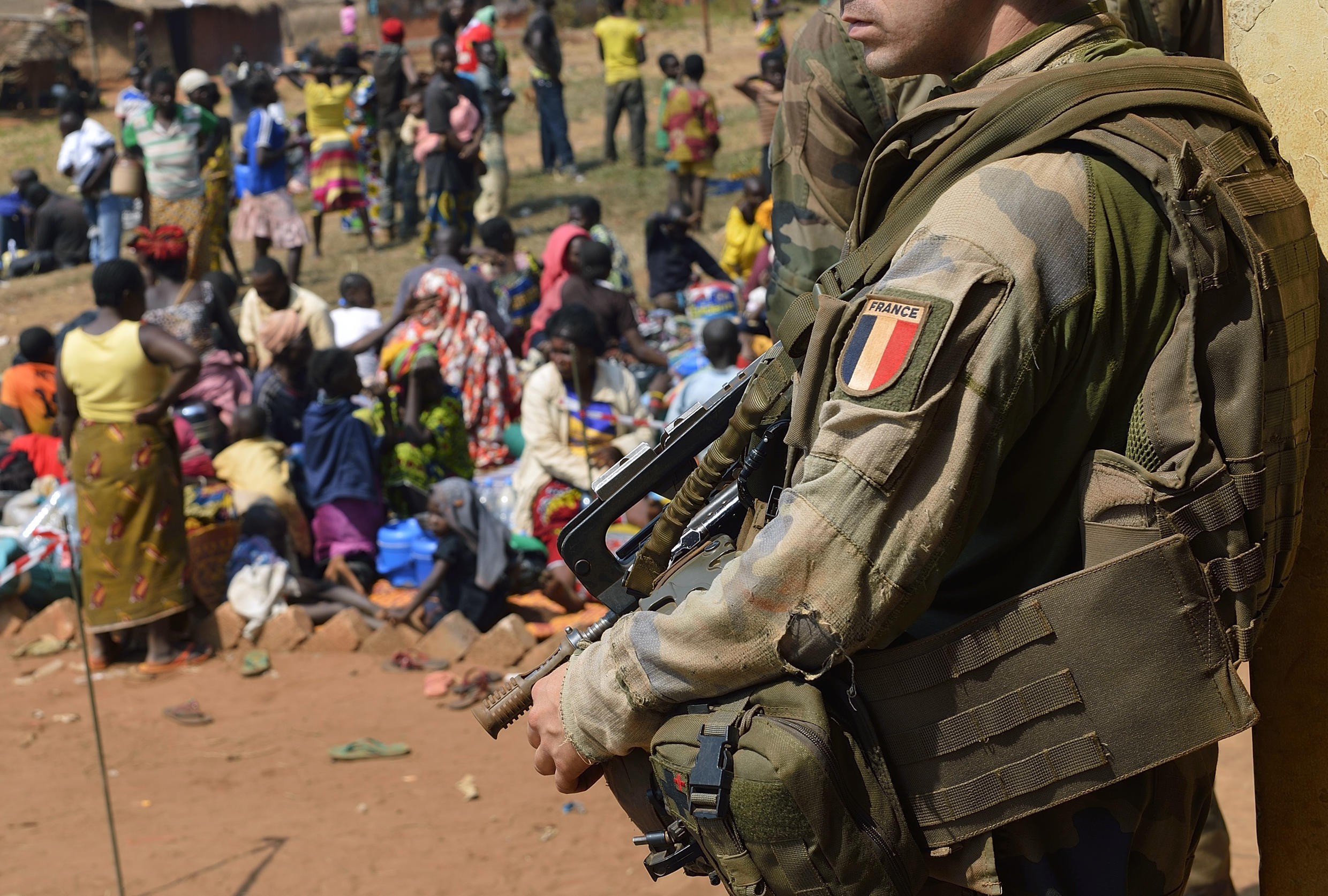 A French soldier in the Central African Republic