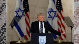 Президент США Дональд Трамп в Израильском музее в Иерусалиме, 23 мая 2017 г.