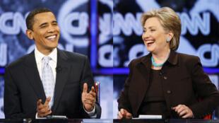 Hillary Clinton  et  Barak Obama