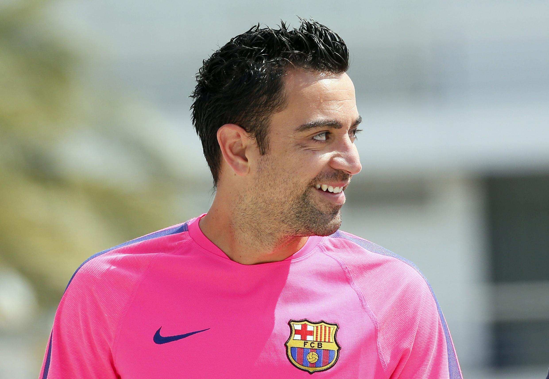 Dan wasan Barcelona Xavi Hernandez