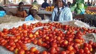 Mercado no interior de Moçambique.