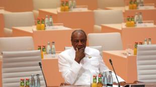 Le président guinéen Alpha Condé lors du G20 2017.