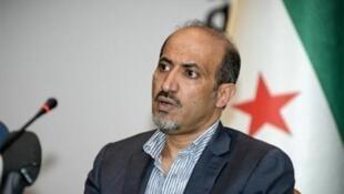 El jefe del Consejo Nacional Sirio Ahmed el Djarba que fue reelecto en julio pasado.