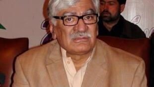 Asfandyar Wali Khan, one of the leaders of the ANP