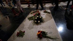 La tumba de Franco, en el Valle de los Caídos.