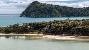 Una playa de Nueva Zelanda cercana a la zona indicada