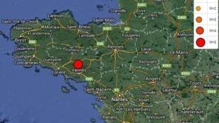 Earthquake near Vannes, Brittany