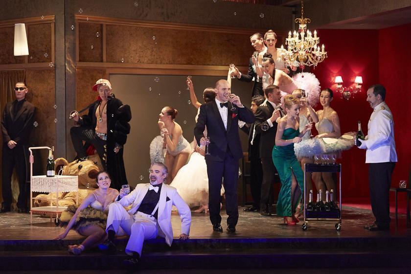Un visuel de « La Chauve Souris », l'opérette de J. Strauss.