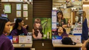 台北一家理发店内景