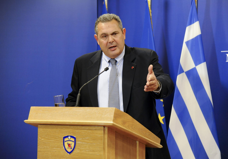 O ministro grego da Defesa, Panos Kammenos