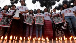 Biểu tình tại Rangoon, Miến Điện, đòi tự do cho hai nhà báo của hãng tin Reuters, Wa Lone và Kyaw Soe Oo. Ảnh ngày 12/12/2018.