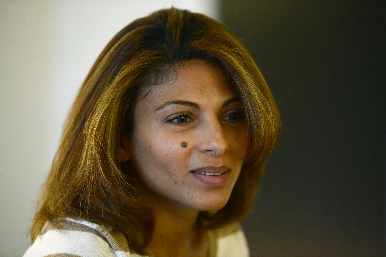 Ensaf Haidar, l'épouse de Raif Badawi, le blogueur emprisonné, le 21 mai 2015 à Berlin.