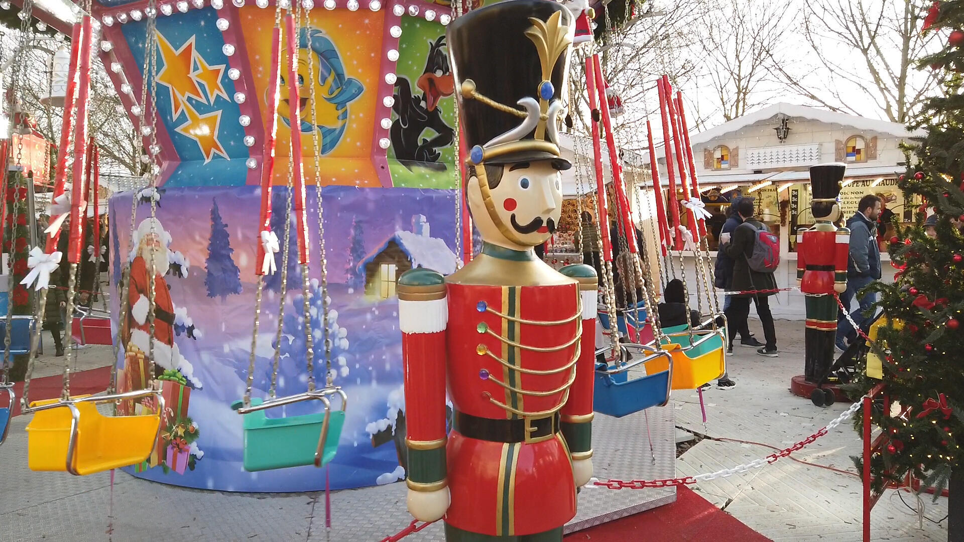 The Christmas market at the Tuileries Gardens in Paris is particularly enjoyable for children (December 2019)