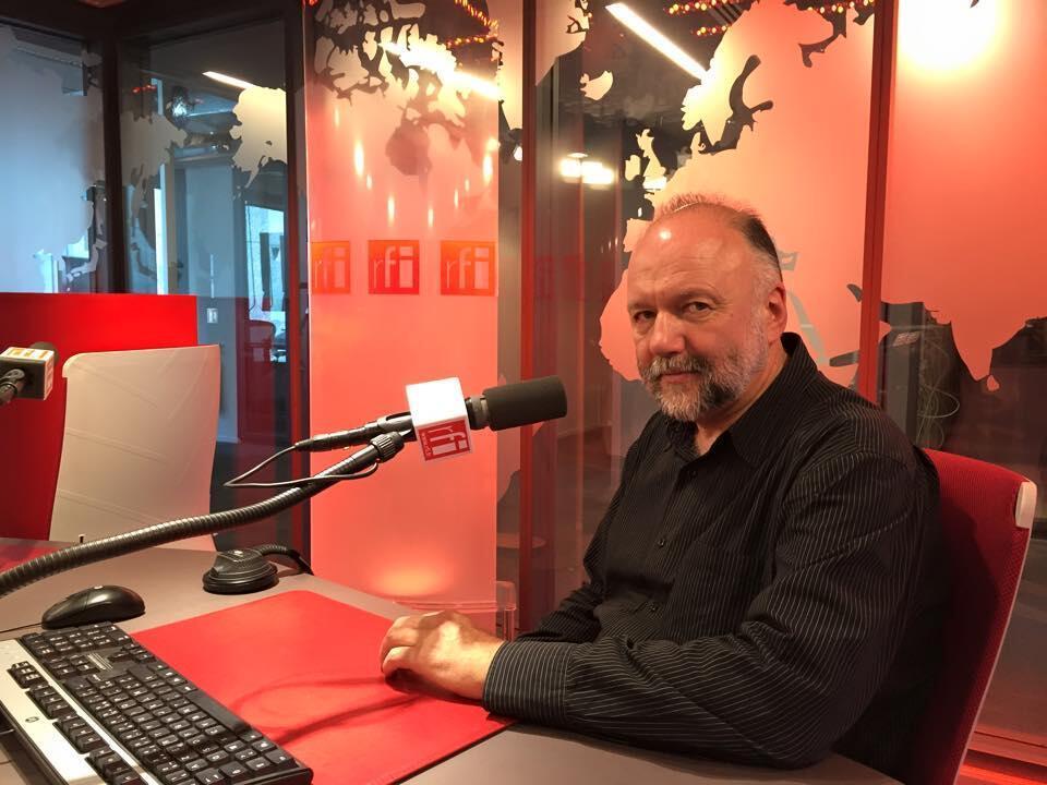 Украинский писатель Андрей Курков в студии RFI, 13 апреля 2015