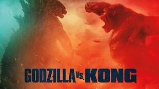 Détail de l'affiche de «Godzilla vs Kong», film réalisé par Adam Wingard. © LEGENDARY AND WARNER BROS. ENT. GODZILLA TM & © TOHO CO., LTD.
