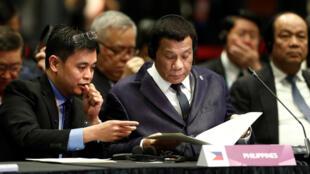 Tổng thống Philippines Rodrigo Duterte tại cuộc họp Thượng đỉnh ASEAN-Trung Quốc, Singapore, ngày 14/11/2018.