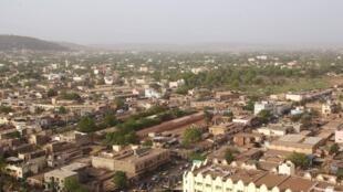 Vue aérienne de Bamako.