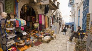 Le souk de Sousse, en Tunisie.