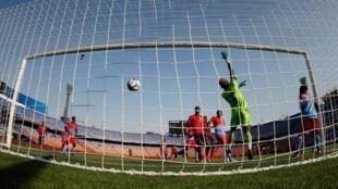 Lors du match RD Congo-Ouganda, à la CAN 2019.