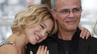 А. Кешиш со своей актрисой, Леей Сейду в Каннах
