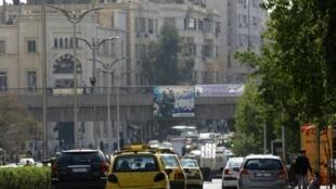Magari yakionekana katika mitaa ya mji Damascus baa ya mkataba wa usitishwaji wa mapigano kuanza kutekelezwa Februari 27, 2016.