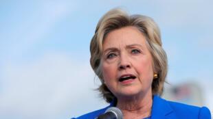 A candidata democrata Hillary Clinton em coletiva de imprensa em Nova York, em 8 de setembro de 2016.