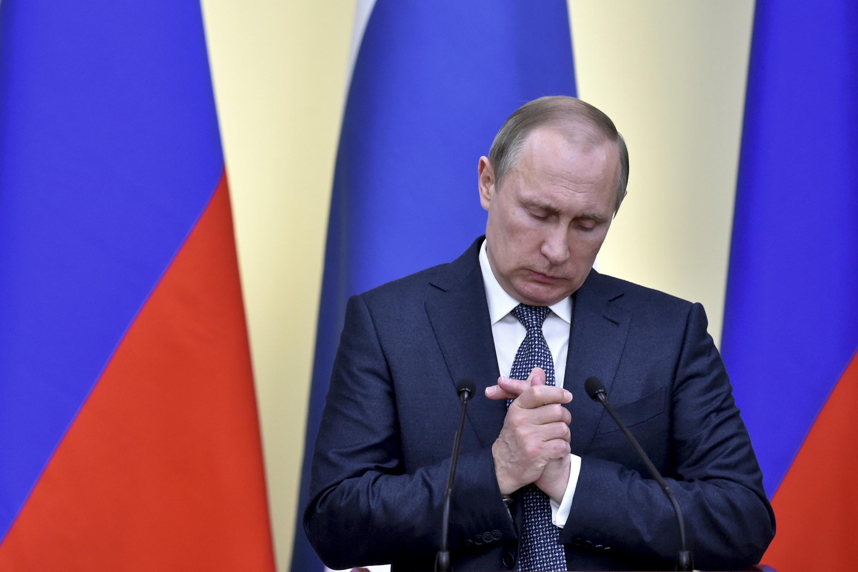 Владимир Путин в Ново-Огарево, 22 марта 2016 г.