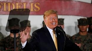 Tổng thống Donald Trump nói chuyện với các quân nhân Mỹ, tại Yokosuka, nam Tokyo, Nhật Bản, ngày 28/05/2019